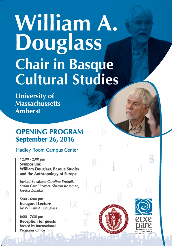 William Douglass Visiting Chair in basque Studies- University of Massachusets Armherst